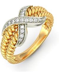 BlueStone Yellow Gold And Diamond Kara Ring