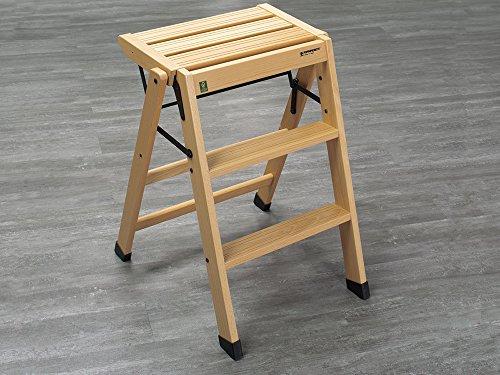 Sgabello design originale in quercia in legno compensato in