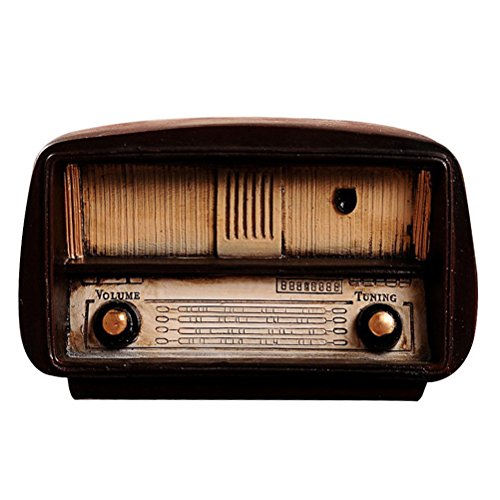 Healifty Decoración Mesa Vintage Modelo Radio Escultura