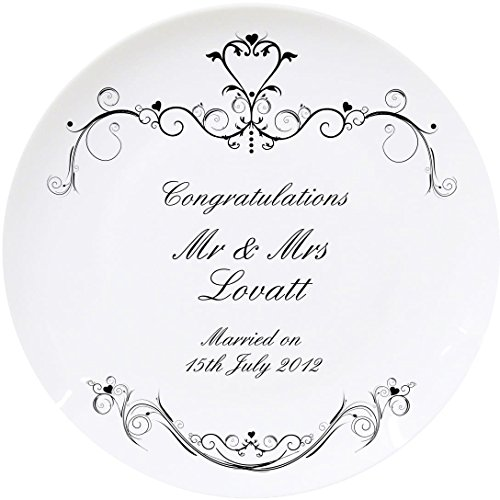 Personalised Ornate Swirl Plate for sale  Delivered anywhere in UK