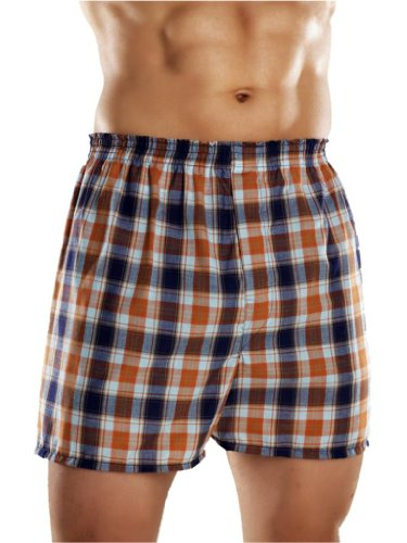 3 Pairs of Mens Traditional Woven Poly Cotton Boxer Shorts with Elasticated Waistband - Available in Sizes Small up to 5XL