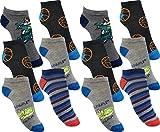 by Laake 12 Paar Jungen Sneaker Kinder Socken 95% Baumwolle