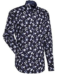 JACQUES BRITT Smart Casual Hemd Custom Fit Langarm Bügelleicht Casual-Hemd Hai-Kragen Manschette weitenverstellbar