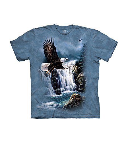 The Mountain Majestic Flight Herren-T-Shirt, kurzärmelig - Blau - X-Groß -