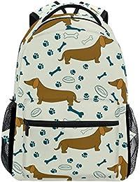 8ff2440352 COOSUN Cartoon Dog Bassotti Casual Pattern Daypack sacchetto di scuola  dello zaino di viaggio Multicolore
