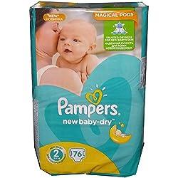 76PAMPERS Pañales New Baby de Dry Talla 2, 3–6KG, algodón suave