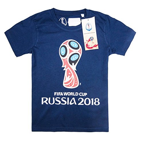 Official Licensed FIFA World Cup 2018 Short Sleeve t Top T-Shirt Jersey for Kids Boys Girls