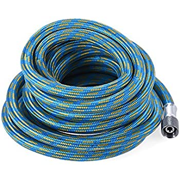 COILED NYLON 1//8BSP TO IWATA CONNECTIONS AB-22 AIRBRUSH HOSE 3 METRE LENGTH
