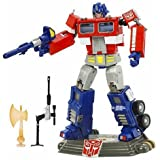 The Transformers Autobot Optimus Prime with Sound Effects (Original Voice) 20 th Anniversary Edition.
