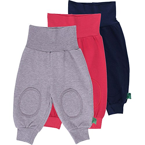 Fred's World by Green Cotton Unisex Baby Hose Alfa Pants Mix 3-Pack, Blau (Navy 019392001), 74