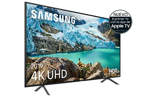 "Samsung 4K UHD 2019 43RU7105 - Smart TV de 43"" con Resolución 4K UHD, Ultra Dimming, HDR (HDR10+), Procesador 4K, One Remote Experience, Apple TV y Compatible con Alexa"