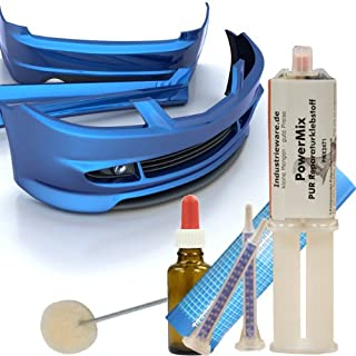 PowerMix Kunststoffreparatur Set Kunststoffkleber KFZ GFK ABS Kleber Karosseriekleber