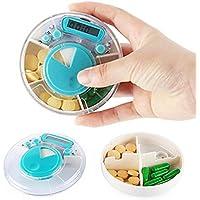 WESEEDOO Pille Dispenser Pill Box mit Alarm Elektronische Medikamente Erinnerung Reise Pill Box Organizer preisvergleich bei billige-tabletten.eu