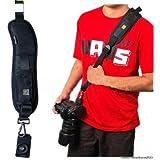 Camera Shoulder Sling Black Belt Strap for SLR DSLR (Single Shoulder Strap)