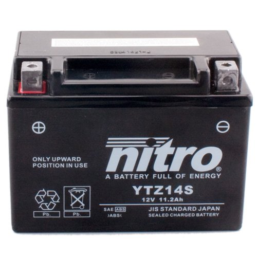 Batería Nitro YTZ14S Gel, 12V/11,2ah (tamaño: 150x 87x 110) para Honda VFR1200XD...