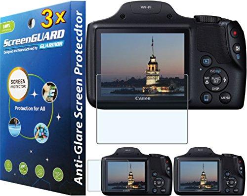 3x Canon PowerShot sx530hs sx-530SX530HS Digital Kamera Premium Anti Glare Fingerprint Matt LCD Displayschutzfolie Guard Shield Cover Kit -