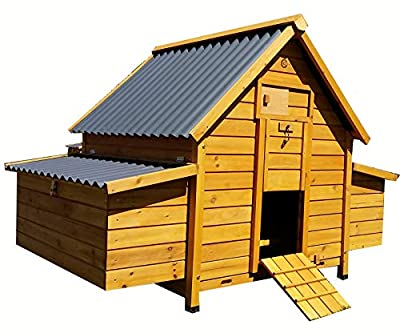 Cocoon LARGE CHICKEN COOP HEN HOUSE POULTRY ARK NEST BOX NEW - LARGER MODEL 1000 WITH SECURE NEST BOX FLOOR & CLEANING TRAY & ECO PLASTIC ROT FREE ROOFS - 1/3 BIGGER THEN MODEL 600 NOW 6-8 BIRDS by Cocoon
