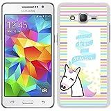 """Funda carcasa para Samsung Galaxy Grand Prime diseño frase """"nunca dejes de soñar"""" unicornio colores borde blanco"""