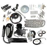 HITSAN INCORPORATION 80CC 2-Stroke Motorized Lack Body Engine Motor Kit for Bike