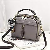 GIRLXV Umhängetasche für Damen Schultertasche mit Schulterriemen für Damen, Handtasche aus Leder aus Pu, braun (Braun) - yaobao-9846447006