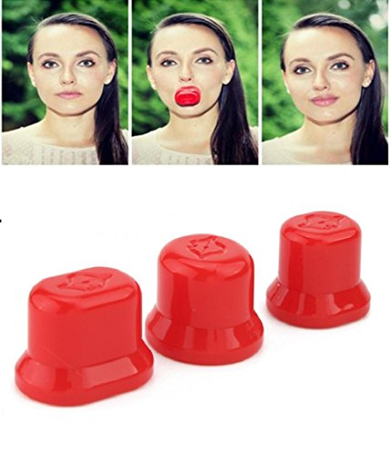 OUTOFBOX 3 Sizes Lips Enhancer Device (Red)