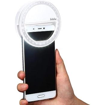 MPTECK @ Flash Lumineux 36 LED Selfie lumière Photo Dimmable Téléphone Caméra Lampe Agrafe