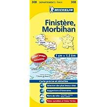 Carte DPARTEMENTS Finistre, Morbihan