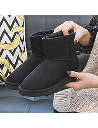 XIGUABOOT Mujeres Botas De Invierno Campo De Nieve De Invierno Botas Estudiante Canister Cortos Zapatos De