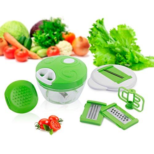 Grattugia di verdure/6 in 1 Affettatrice di Verdure Frusta da Cucina Professionale Per Casalinga Mandolina Manuale di Frutta per la Madre Utensile da Cucina y Contenitore di Cibo