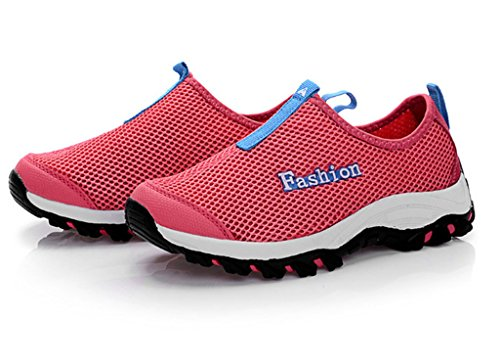 Fangsto Athletic Maille Respirante Chaussures De Course Decollet Red