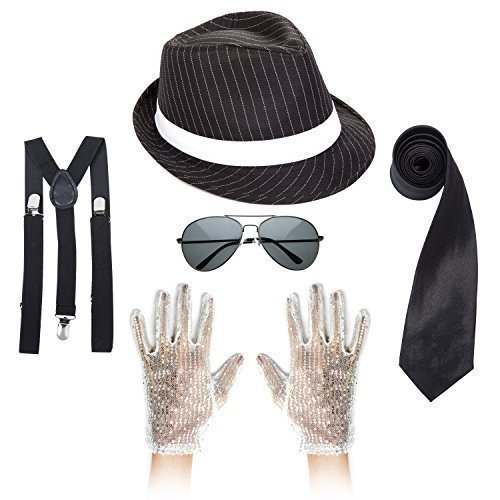 MJ King Of Pop Outfit - Schwarz