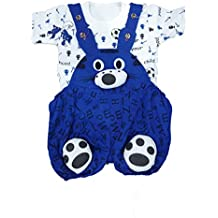 SAS Baby Girl Baby Boys high Quality Dungaree Set for Kids with Complete Skin Care of Your Infant .Perfect Look of daungaree Make Your Child Look Cool and Dashing