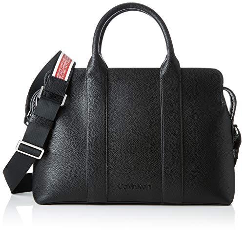 Calvin Klein - Race Tote, Bolsos totes Mujer, Negro (Black), 14x37x26 cm...