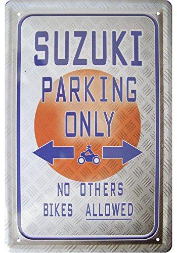 suzuki-parking-only-deko-blechschild-tin-sign