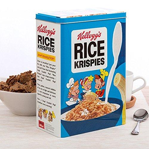 Retro cereales Metal lata almacenamiento caja con tapa