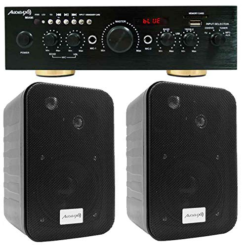Audibax Equipo Karaoke Amplificador Bluetooth Miami