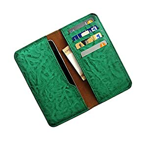 i-KitPit : PU Leather Wallet Flip Pouch Case For Lava Xolo A500L (GREEN)
