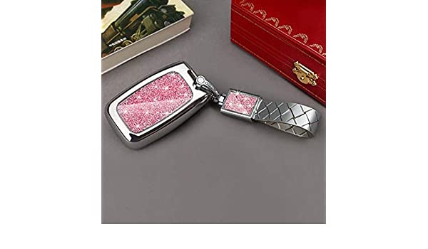 Car Key Case Diamond Crystal Shell Cover Special for Land Rover Range Rover Velar 5 Discovery 4 Evoque with Keyring Buckle Color Name Silver C