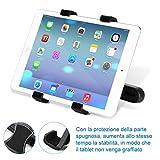 GHB Supporto Tablet Auto Supporto Poggiatesta per iPad Tablet Auto Universale 7' a 10' Rotazione di 360° Nero
