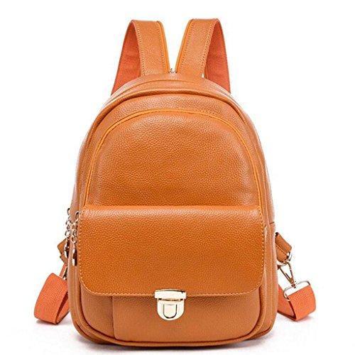 Y&F Rucksack Ledertasche Weiche Handtasche Schultertaschen 25 * 15 * 33 Cm Yellow