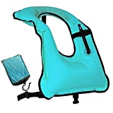 Faxpot Men/ Women Adult Inflatable Life Jacket Snorkel Vest For Swimming Safety