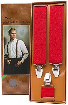 Shenky - Tirantes con forma de Y con 3 resistentes clips - Vienen en una caja - Varios colores - 3,5 cm de ancho