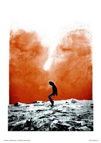 onthewall Michael Jackson–Moonwalker por Simon Walker–Pop Art Póster Impresión Abierto editar.