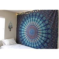 handicraftofpincity indischen blau Mandala Tapisserie Dekorative Hippie Wandt...