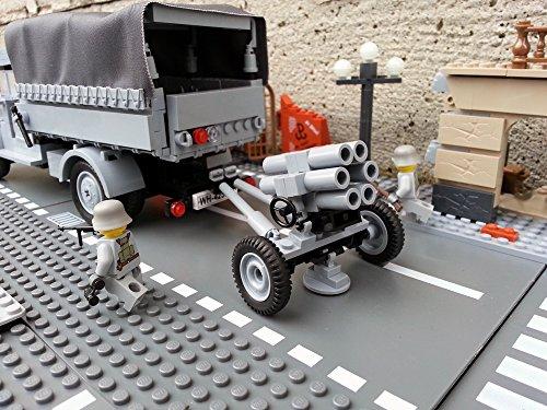 Modbrix 2182 – Bausteine Nebelwerfer 41 Stellung inkl. custom Wehrmacht Soldaten aus original Lego© Teilen - 5