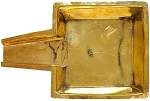 Exotic India Patra for Abhisheka - Brass