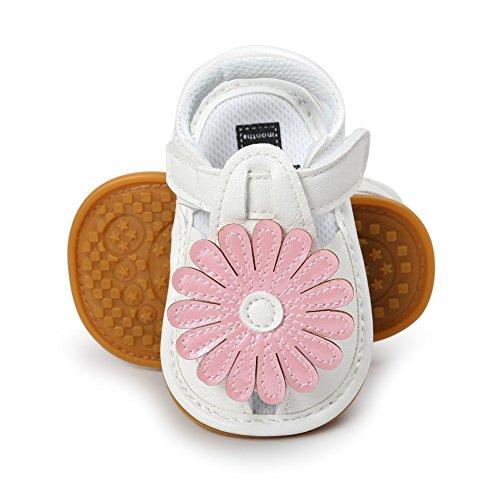 MiyaSudy Baby Schuhe Mädchen Rutschfest Weiche Sohle Sonnenblume Sommer Sandalen Schuhe Pink