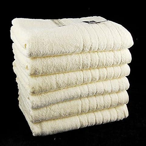 2 unidades beige 600 GSM algodón egipcio hojas de baño/toallas - 90 cm x 145 cm