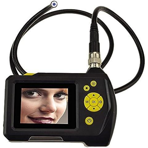 Endoscopio digital, Potensic® 2.7inch LCD Screen Display Digital endoscopio ajustable 6 LED Cámara de Inspección endoscopio con 0.32in. Diámetro 360 ° Rotación de la cámara - 1 M (Sonda de
