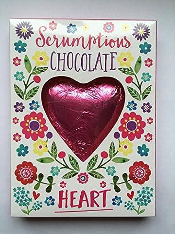 pink scrumptious chocolate Love heart in box- Valentines Gift wedding,